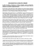 Declaració Mesapel Xúquer Abril 2018